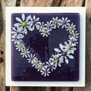 Daisy Wall Art Panel - Medium - Purple