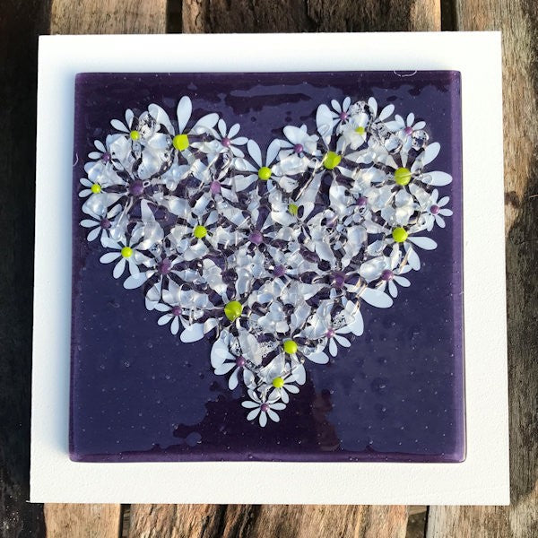 Daisy Wall Art Panel - Large - Purple