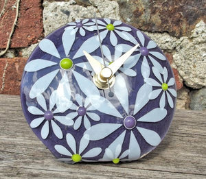 Daisy 'Q' Clock - Purple