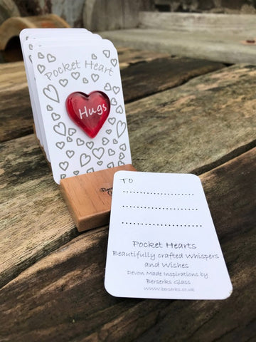 Good Wishes Pocket Heart - Hugs