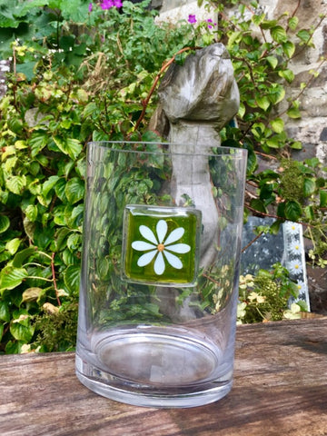 Daisy large Vase - Spring Green