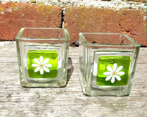 Pair of Little Daisy T-Lights - Spring Green