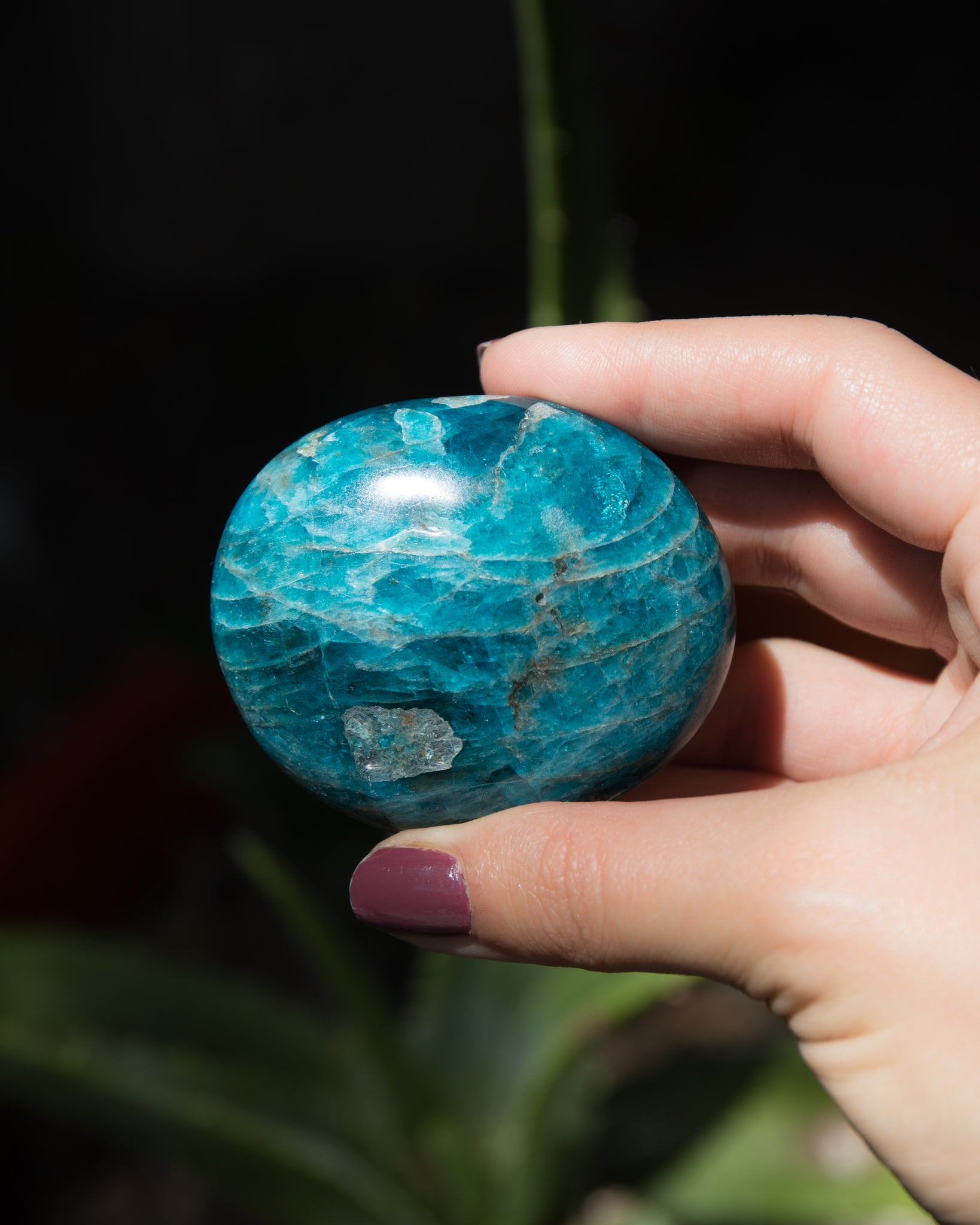 Blue Apatite Palm Stone (Group B)