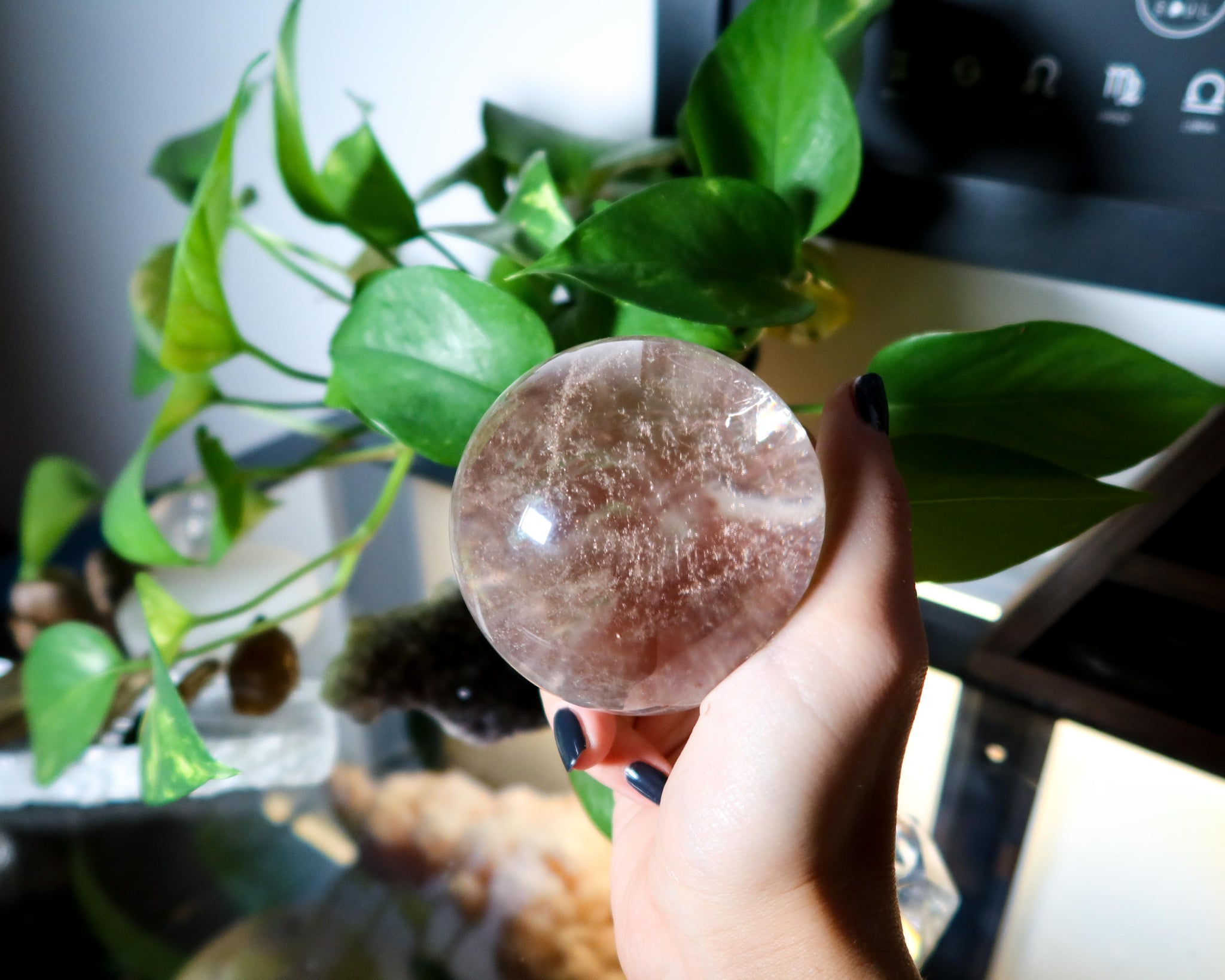 Clear Quartz Crystal Ball B