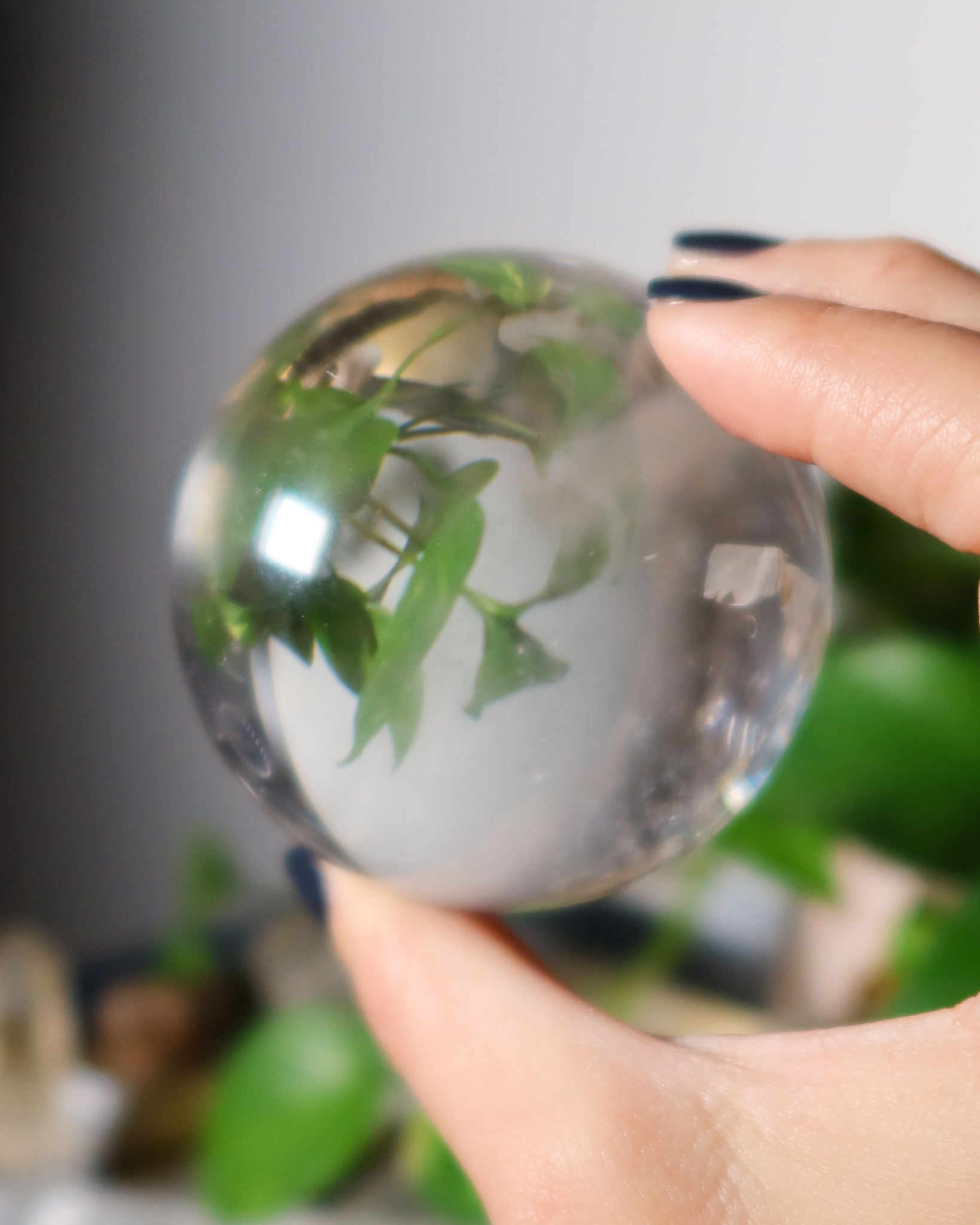 Clear Quartz Crystal Ball C