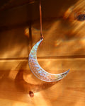 Iridescent Clear Crescent Moon by Colin Adrian Glass
