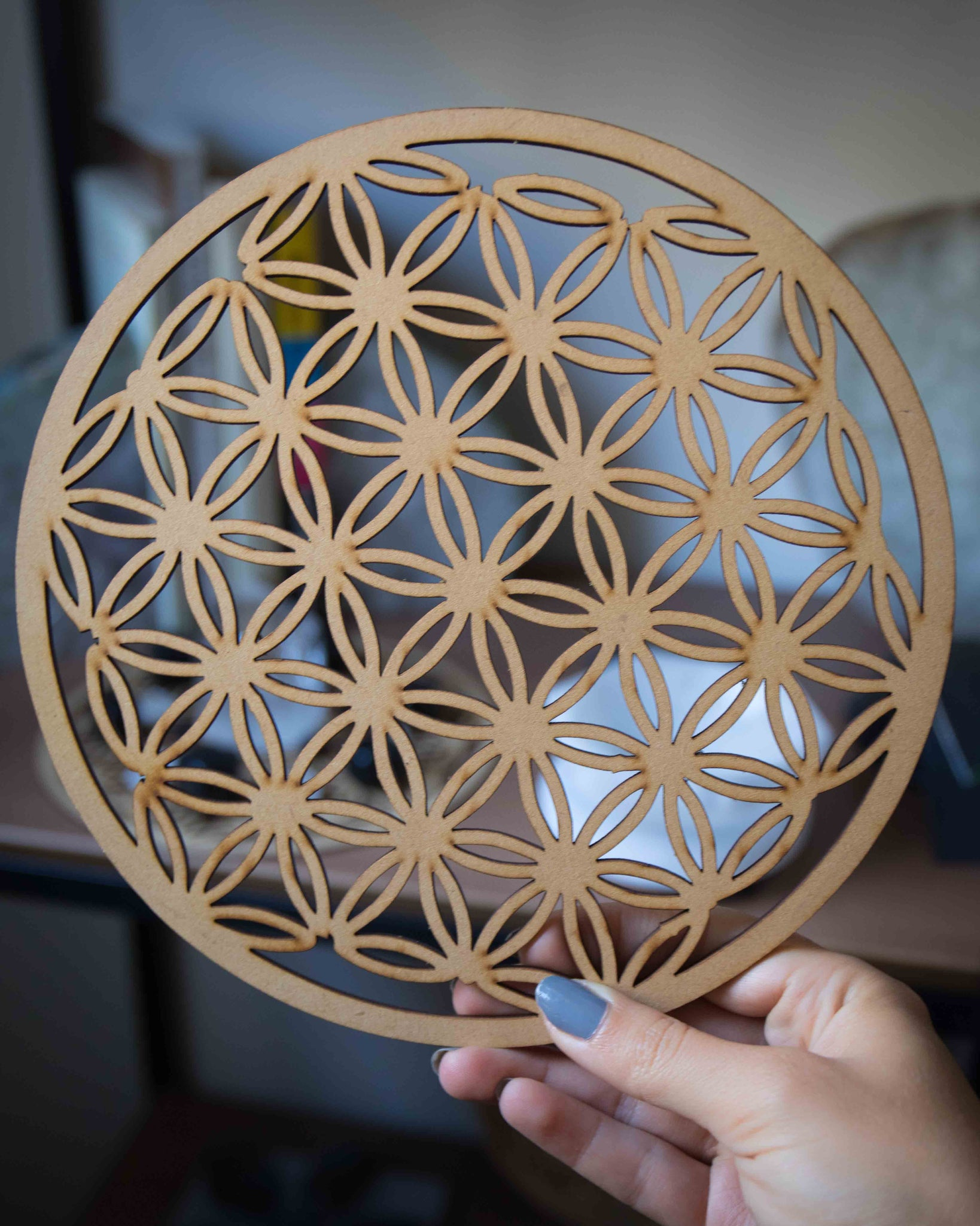 Flower of Life Wood Grid