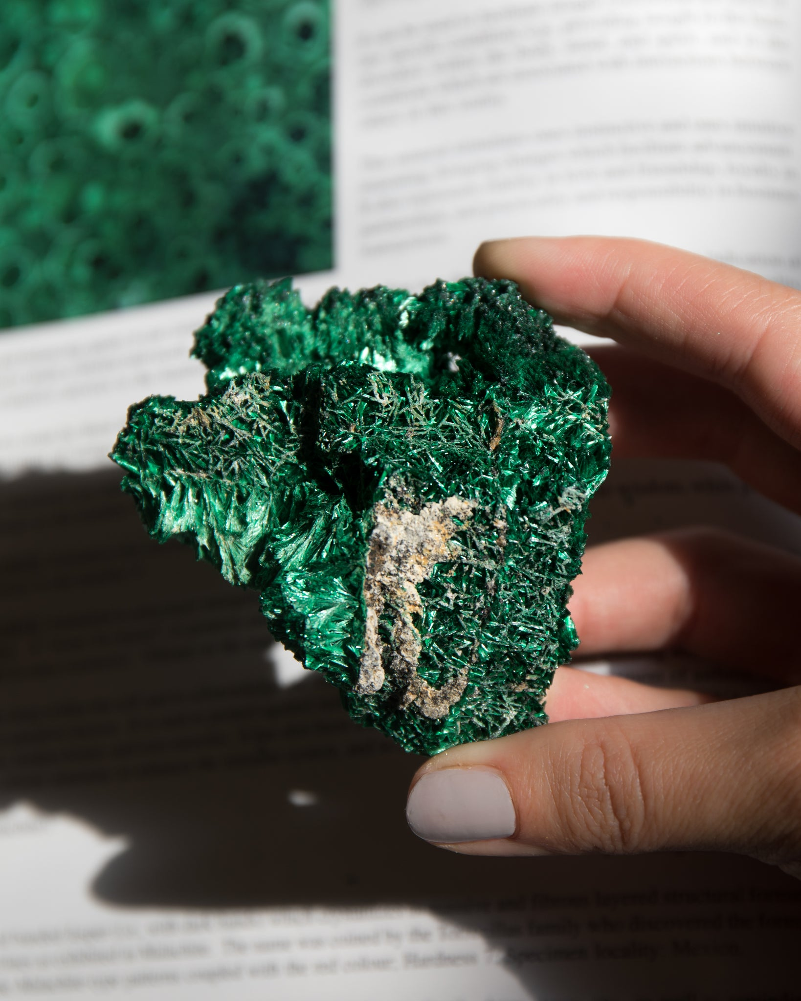 Raw Fibrous Malachite D