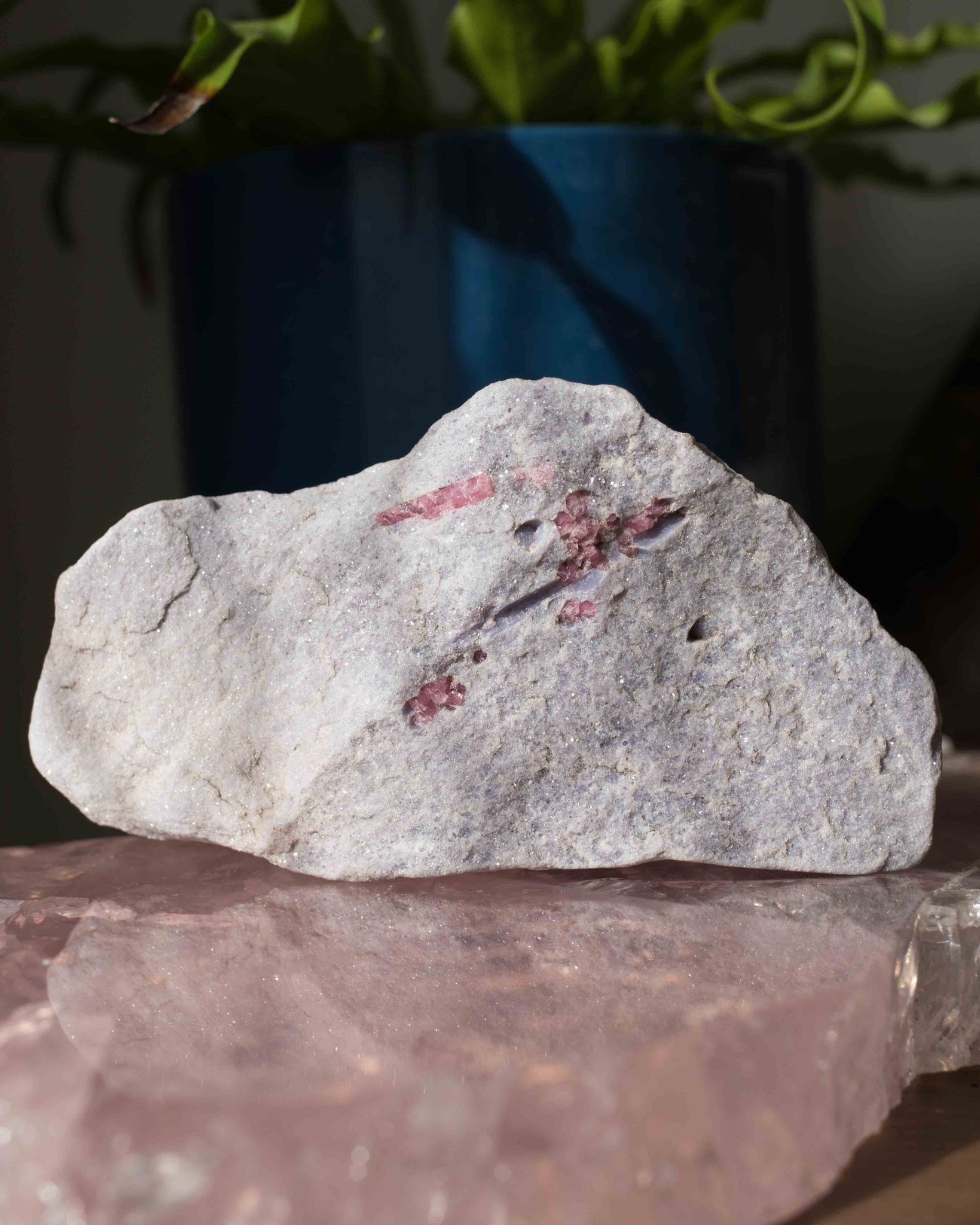 Lepidolite with Pink Tourmaline