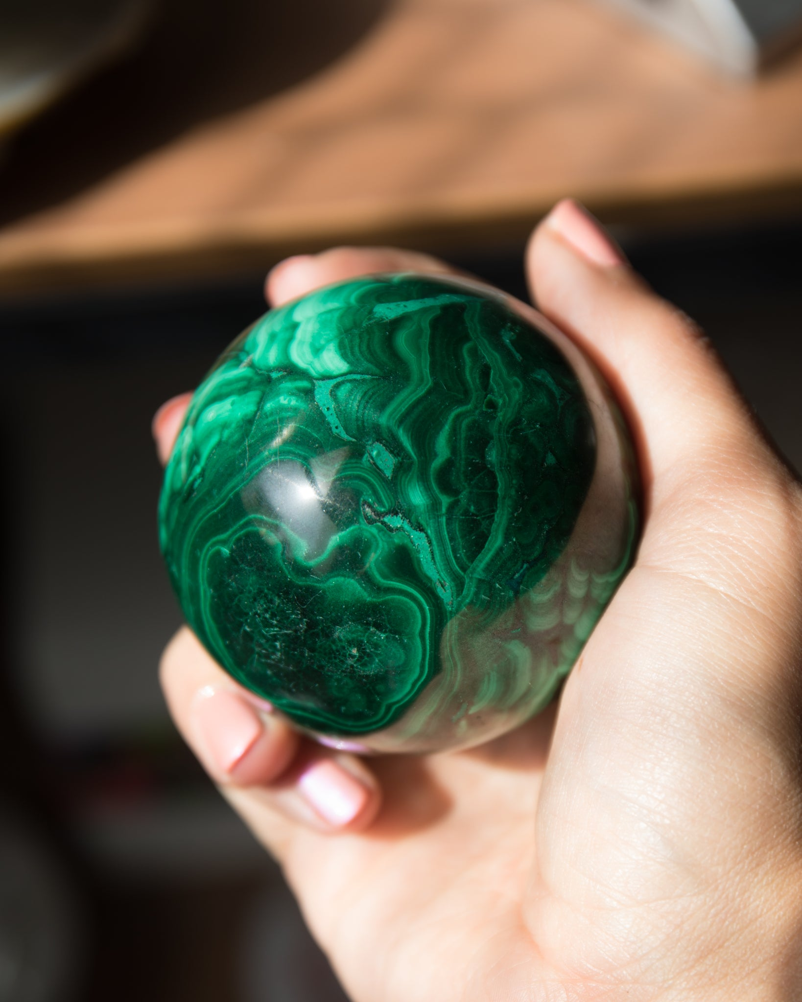 Malachite Sphere ( A-C )