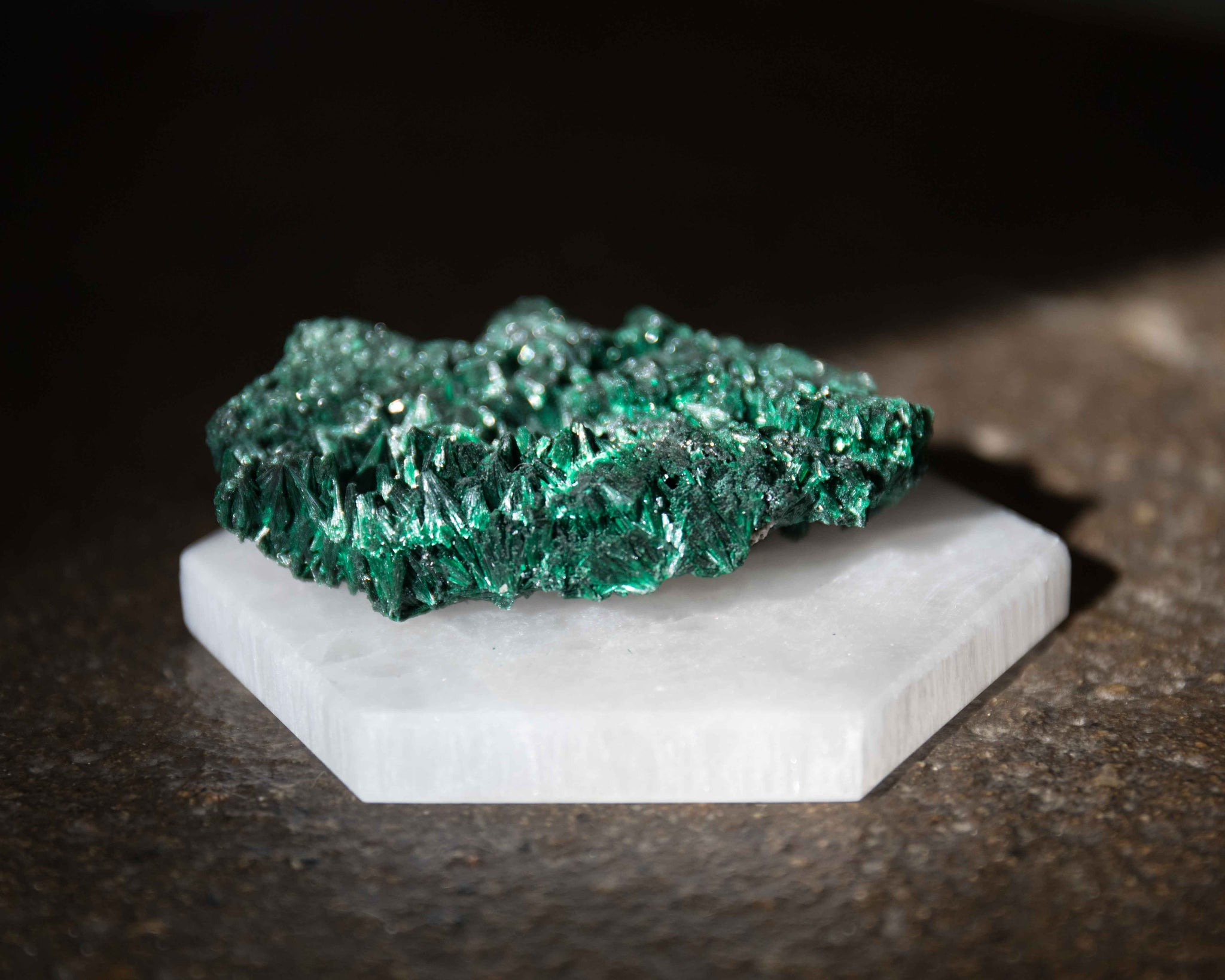 Raw Fibrous Malachite A