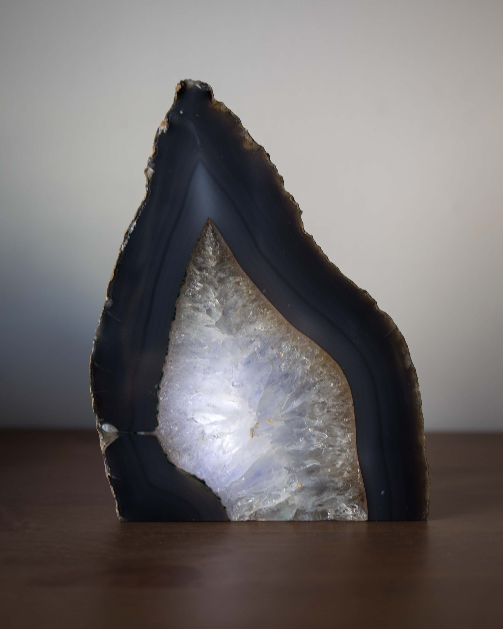 Natural Agate Lamp - PREORDER