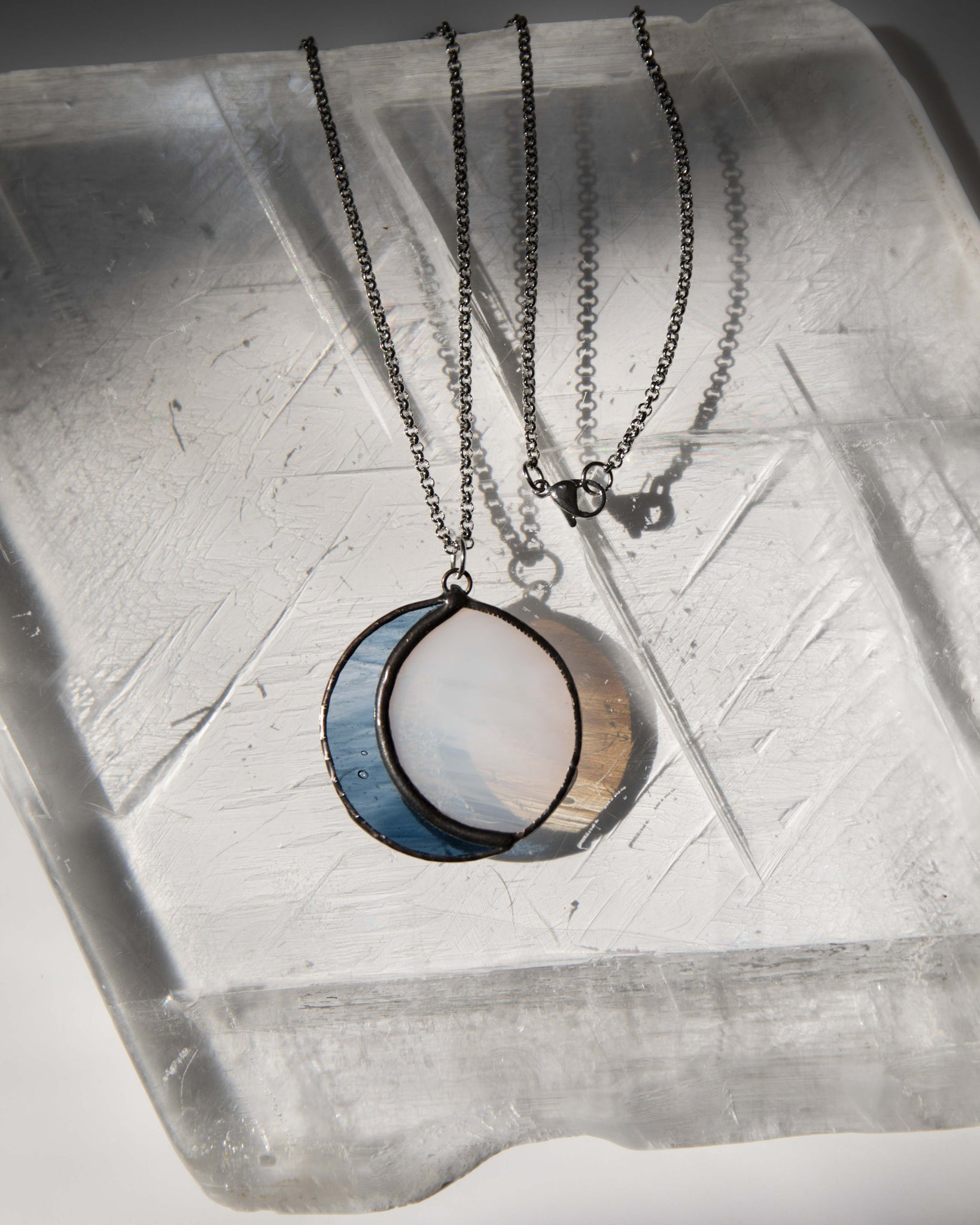 Full Moon Glass Necklace by Colin Adrian