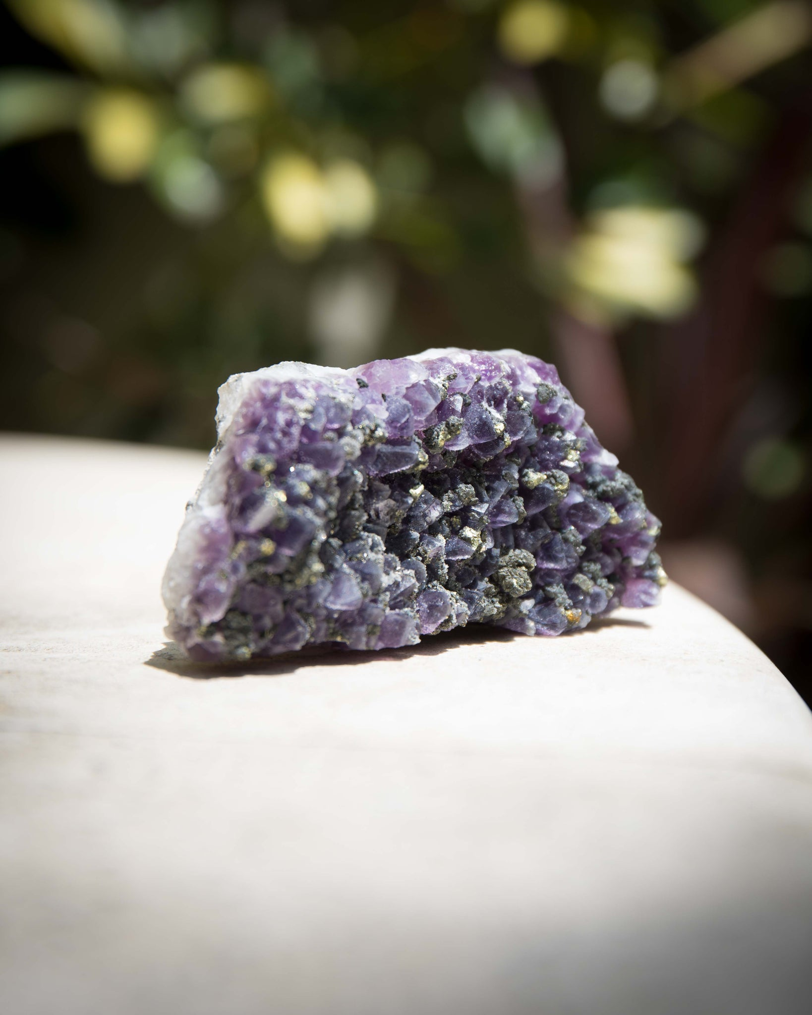Amethyst with Pyrite B