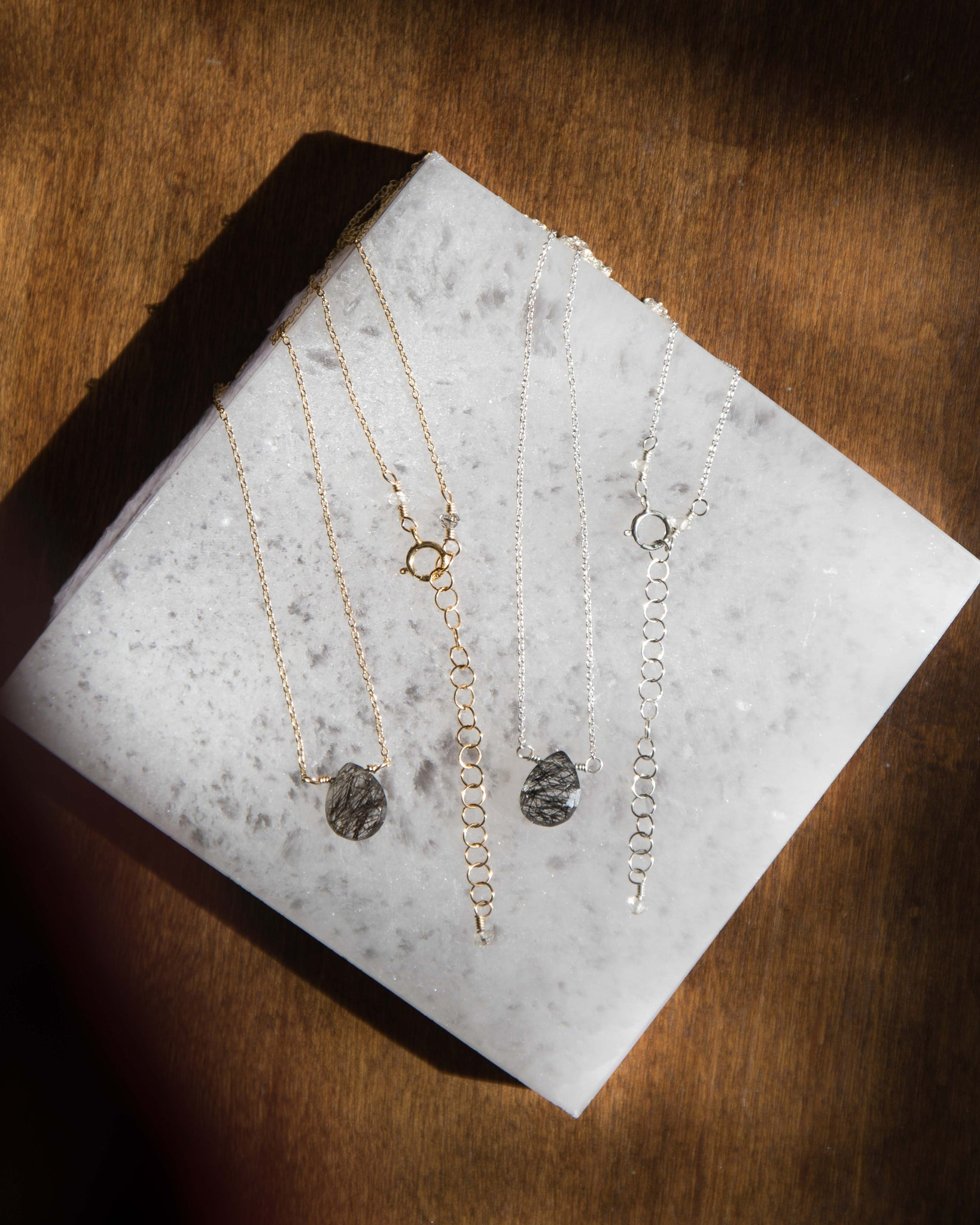 Black Tourmalated Quartz Necklace - PREORDER