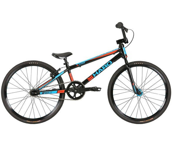 19 HARO RACELITE JUNIOR (18.25) BLACK BLUE ORANGE
