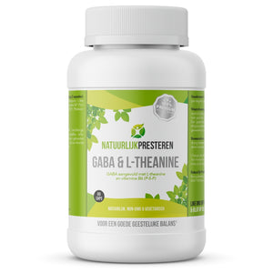 GABA met L-theanine - GABA supplement met actief B6 (P-5-P)