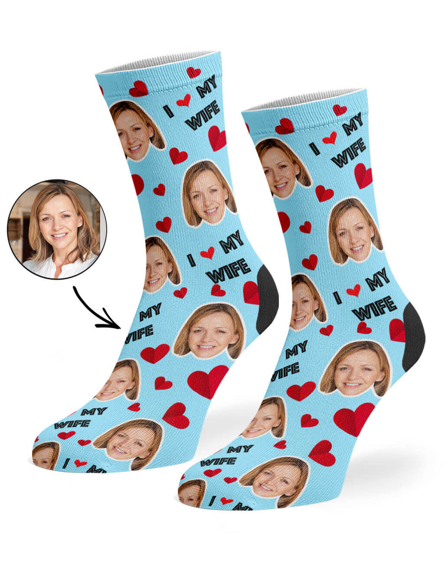 I Love My Wife Socks