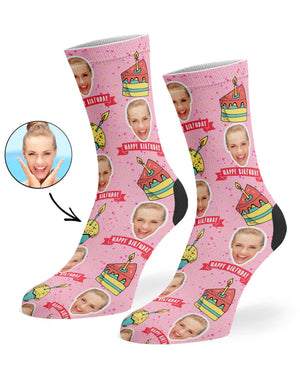 Happy Birthday Cake Socks
