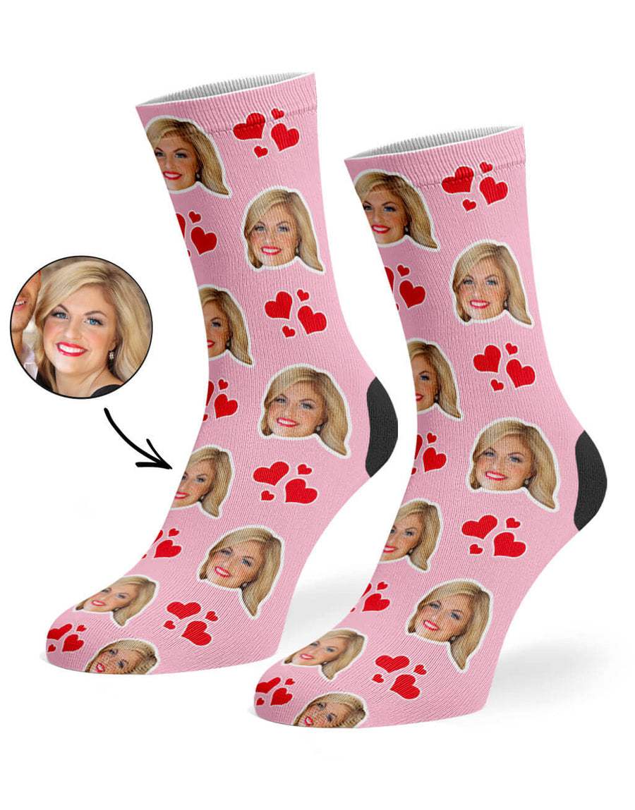 My Valentine Face Socks