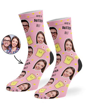 You're My Butter Half Socks
