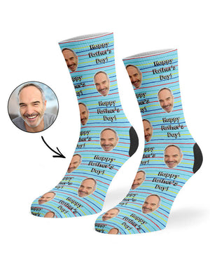 Striped Father's Day Socks