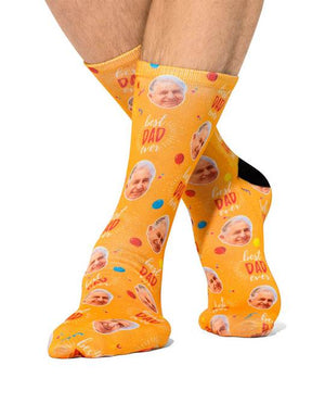 Balloons Best Dad Socks