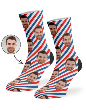 Barber Shop Pattern Socks