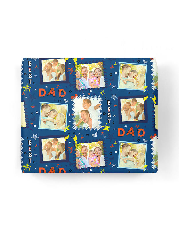 Best Dad Frame Gift Wrap