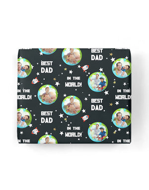 Best Dad In The World Gift Wrap
