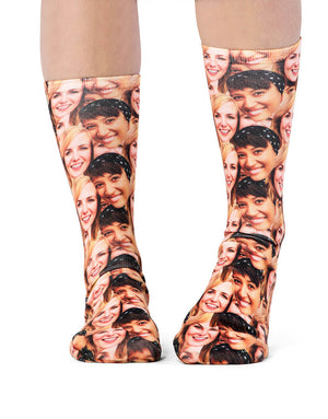 Best Friends Face Mash Socks