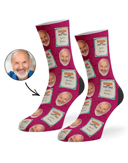 Best Dad Certificate Socks