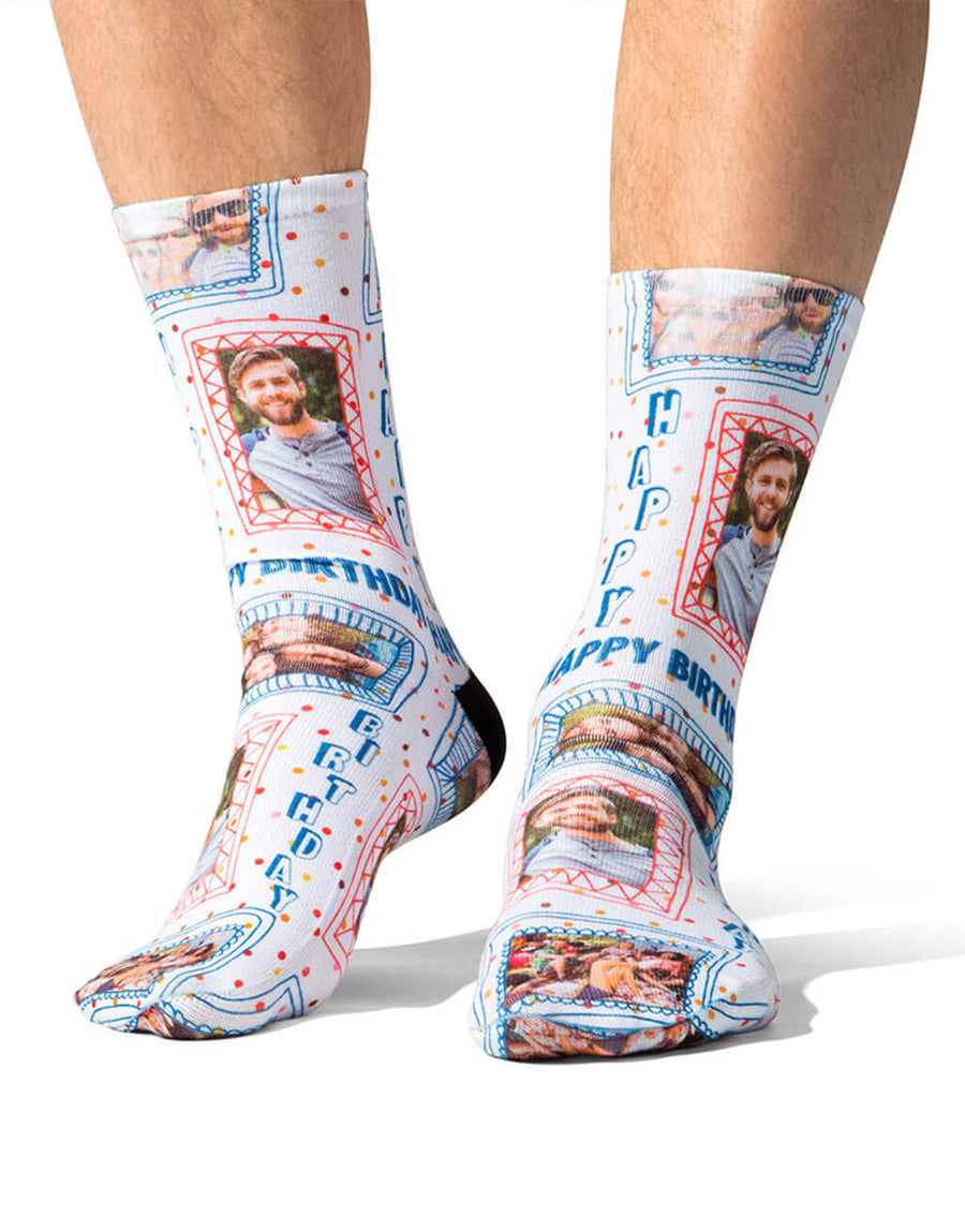 Birthday Photo Frame Socks