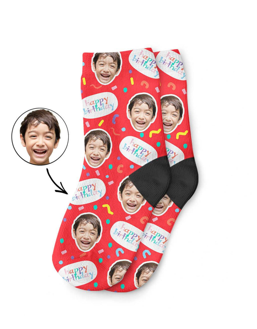 Happy Birthday Kids Socks