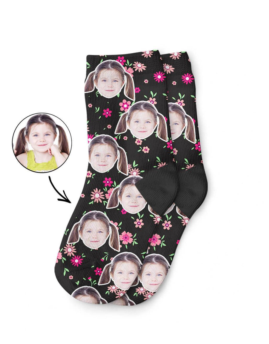 Flower Face Kids Socks