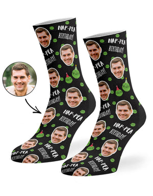 Hap-Pea Birthday Socks