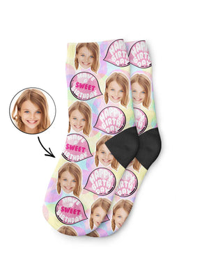 Bubble Gum Birthday Kids Socks