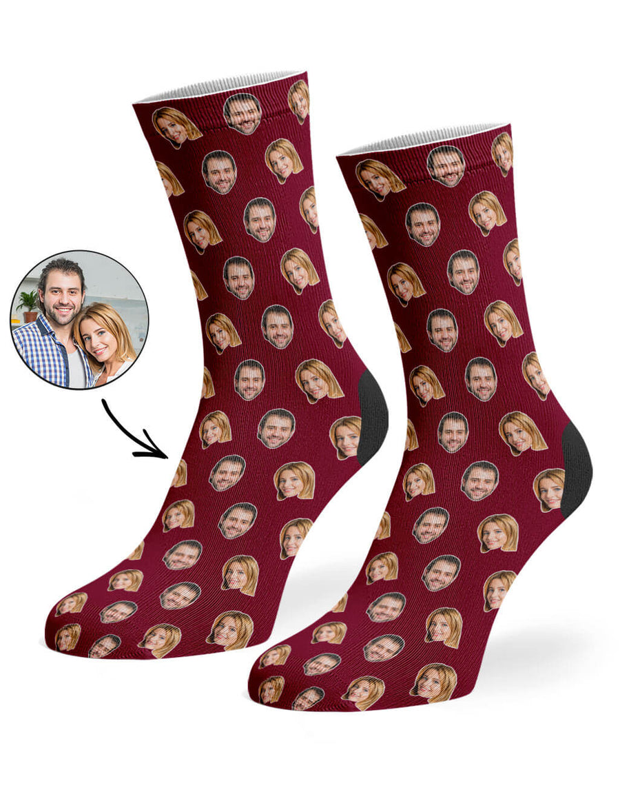 Couples Face Pattern Socks