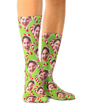 Christmas Candy Cane Socks