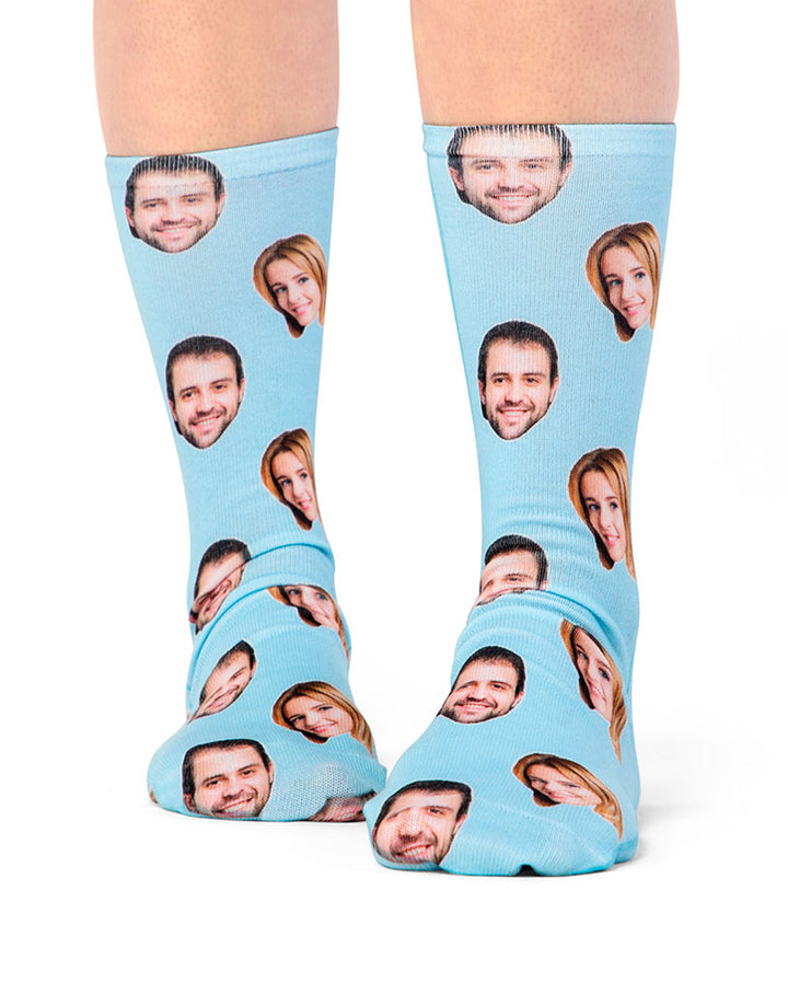 Custom Printed Couple Face Socks