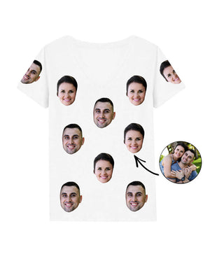Couples Face Womens T-Shirt
