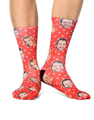Couples Polka Face Socks