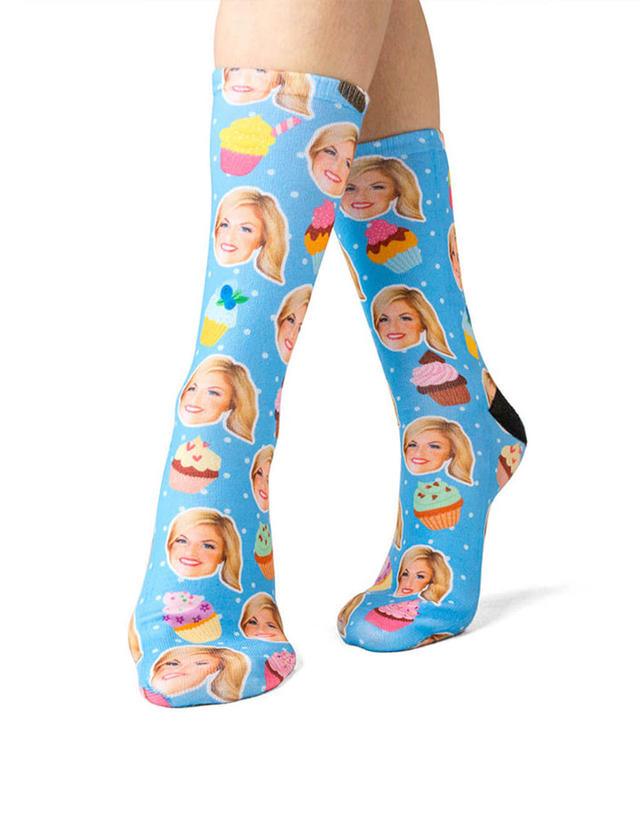 Cupcake Face Socks