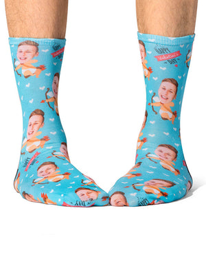 Cupid Guy Socks