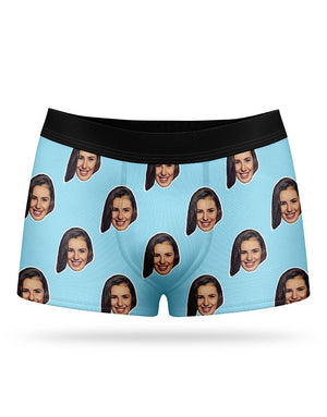 Custom Printed Face Boxers