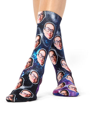 Face Galaxy Socks