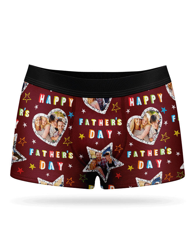 Father's Day Collage Boxers