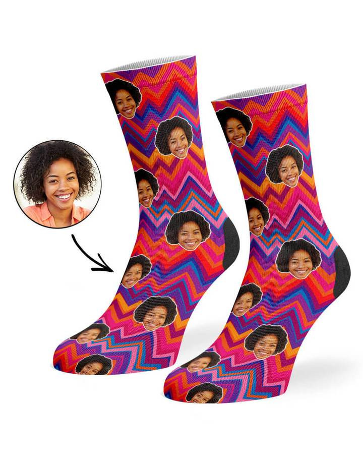 Colorful Zig Zag Socks