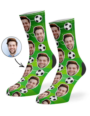 Soccer Face Socks