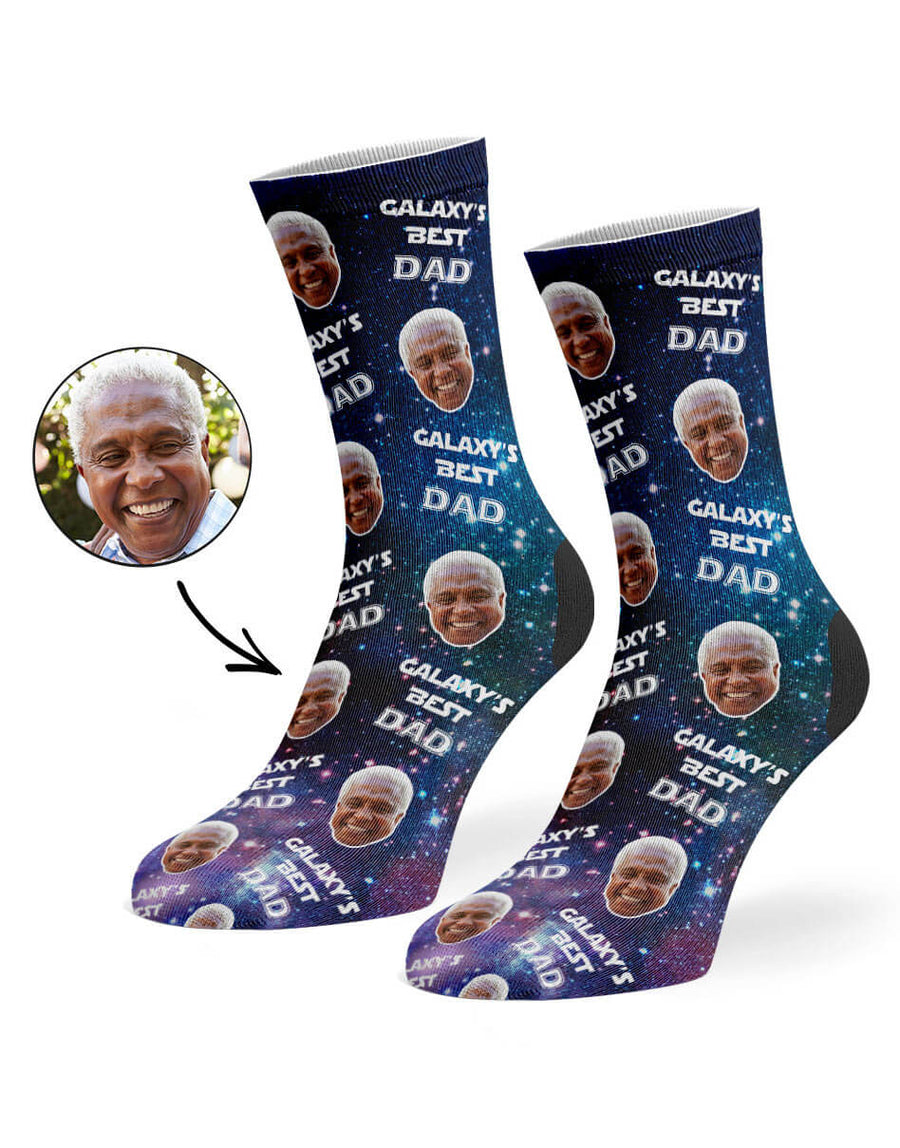 Galaxy's Best Dad Socks